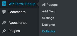 Collector Menu Screenshot