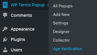 Age Verification Menu Screenshot